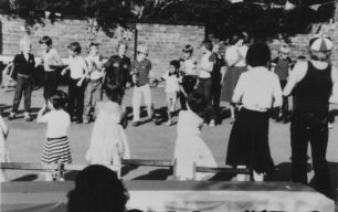 Children at the party in Wood Street to celebrate the Royal wedding of July 1981