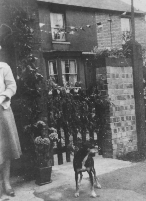 1953 Coronation - a decorated garden gate
