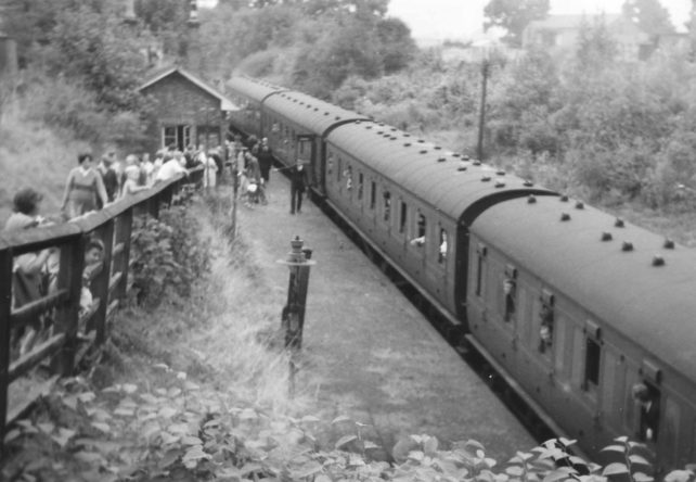Train at Bradwell Station