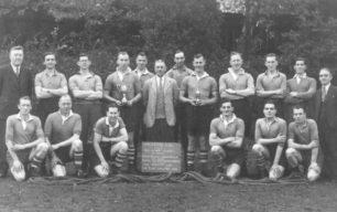 Wolverton AAC Tug of War team, 1948.
