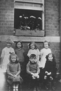 Group of children in Russell Street, Stony Stratford.