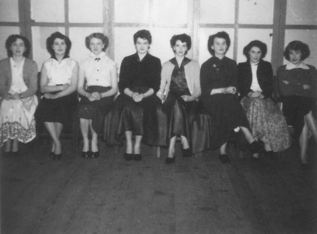 Group of women at dance.