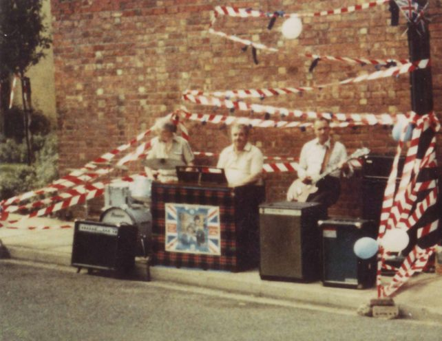 Musicians at Prince Charles & Lady Diana wedding street party