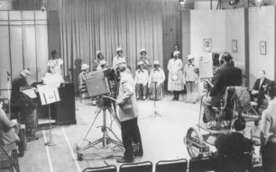 Jolly Minstrels being filmed by the BBC.