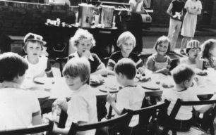 Children at the party in Wood Street to celebrate the Royal wedding of July 1981.