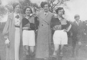 Two women footballers of the Bradwell Ladies Football Team