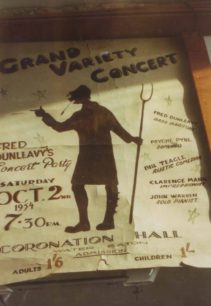 Poster for Grand Variety Concert 1954