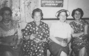 Molly, Maude Squire, Ciss Billingham nee Green at the WI.