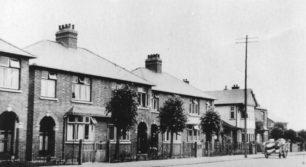 Newport Road. Semi-detached houses.