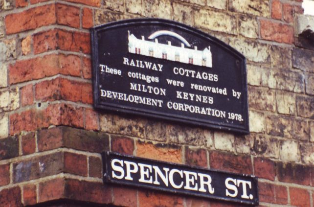 Railway Cottages plaque