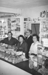 Inside of sweet shop.