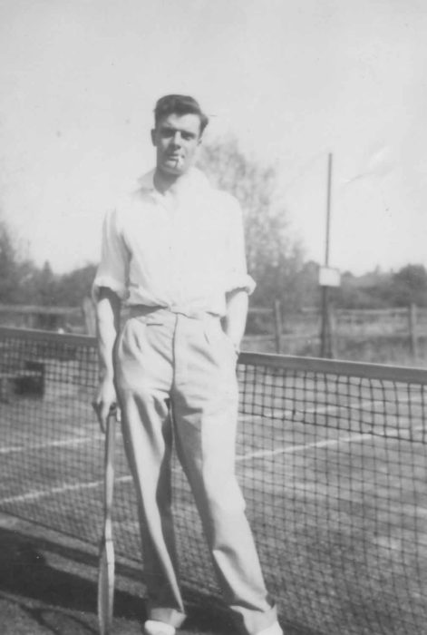 Fred Bougham at Riverside Tennis Club.