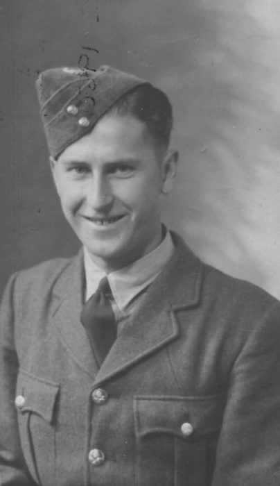 Man in RAF uniform.
