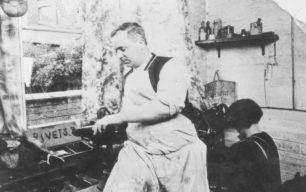 William Clamp in his workshop.