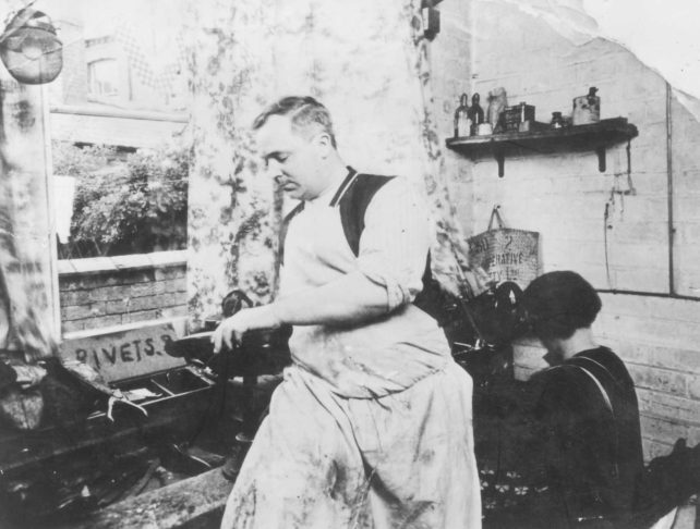 William Clamp in his workshop.