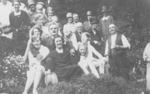 Albert Brown pictured with family and friends in August 1930.