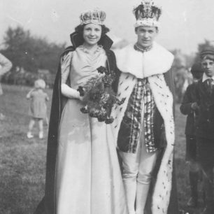 1937. Carnival King  and Queen.