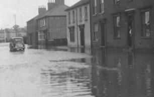 Corner Pin, New Bradwell Floods, 1939.