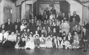 Gravelfield residents enjoying Coronation Party 1953.