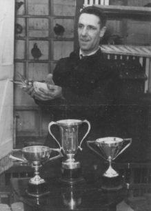 Pigeon fancier Bert Craddock who won many prizes over the years
