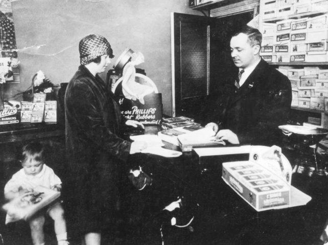 William and Eva Clamp in shop
