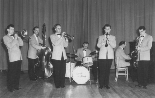 Mid-1950s Tommy Clarridge Dance Band Jazz Section