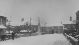 Harwood Street in the snow.