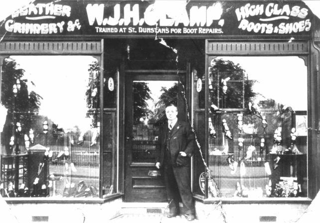 W J H Clamp's shop front