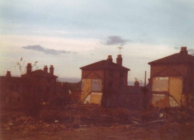 First Company houses demolished.