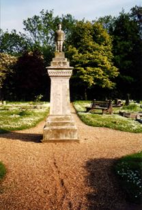 The Little Soldier statue in New Bradwell Cemetery.