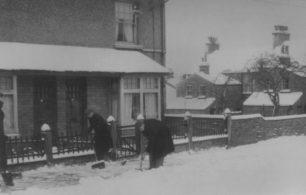 Winter of 1963 in Harwood Street.