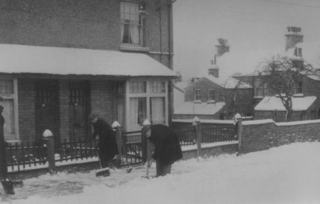 Winter of 1963 in Harwood Street.