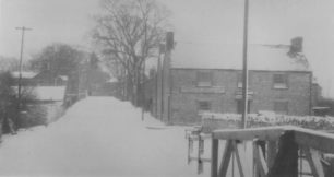 1963 Winter view of canal & railway hills by the New Inn.