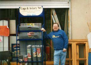 Sid Telfer outside his DIY shop in Newport Road