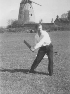 New Bradwell Cricket Club player Alan Bardell, early 1950s