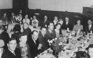 Annual dinner of the Cricket Club at the Bowyer Hall, Newport Road. 1950s