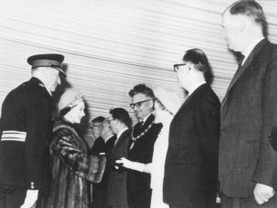 Early 1960s, Cllr Ray Bellchambers and wife Mary presented to Queen Elizabeth II.