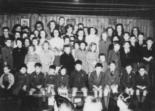 Old Bradwell children, possibly at a concert in aid of the Merry Comrades Association.