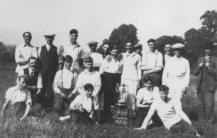 Old Bradwell Cricket Club, champions 1925-26.