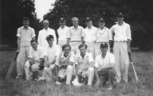 Old Bradwell Cricket Team, possibly late 1940s.