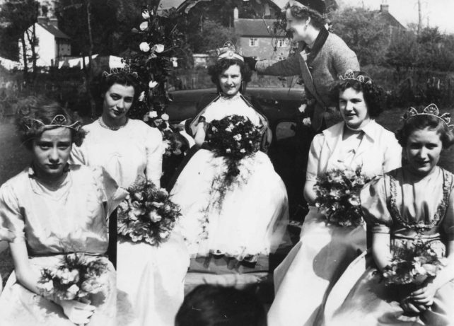 1950 Merry Comrades May Queen Joy Walker.
