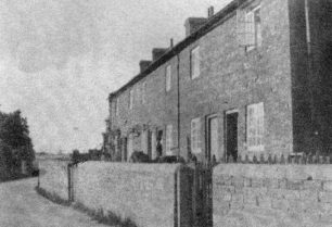 Cottages in Abbey Road, Old Bradwell in the early 1930s.