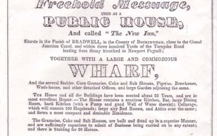 Auction notice for The New Inn, 1828.
