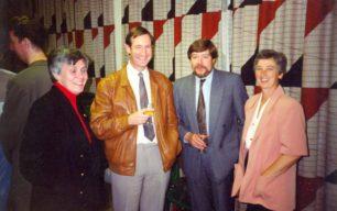 Peter Murray, Liz and John Buchanan, Roger Fooks at Daphne's retirement party