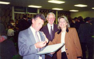 Peter Cutler, David Bradshaw and Marian Close look at Daphne's retirement book
