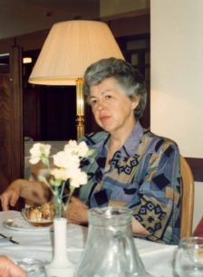 Daphne Capp at her retirement party at the Buckingham Lodge Hotel