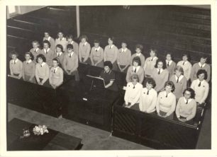 Old Leon Choir preparing for Speech Day, at the Spurgeon Memorial Baptist Church