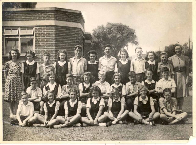 Mrs Naylor's class at the Old Leon School