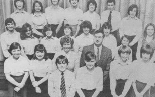 Leon School Choir winning the honours certificate at the Buckingham Festival, 1981