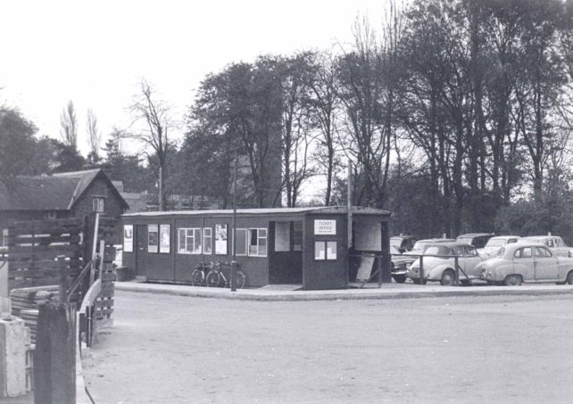 Temporary station at Bletchley c1965